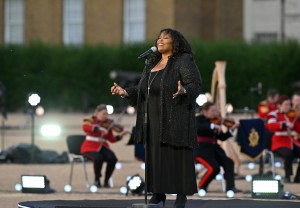 Ruby Turner performs at the recording of VJ Day Commemorations on Horseguards Parade on Wednesday 29 July 2020. Photo by Mark Allan/BBC